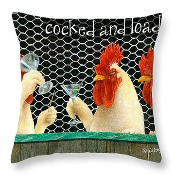 Cocked And Loaded Throw Pillow