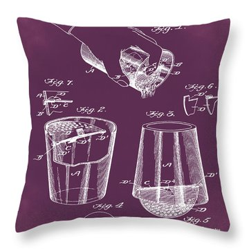 Cocktail Mixer Patent 1903 In Chalk Throw Pillow