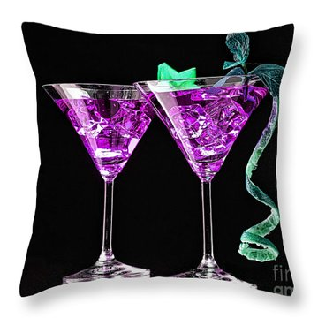 Cocktails Collection Throw Pillow by Marvin Blaine