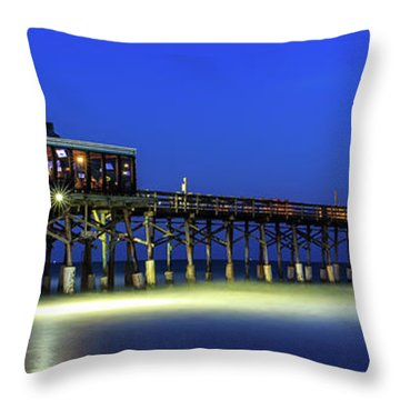 Cocoa Beach Pier At Twilight Throw Pillow