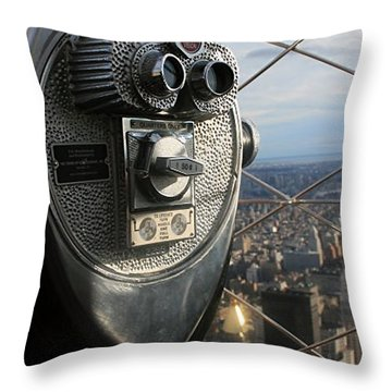 Throw Pillow featuring the photograph Coin Operated Viewer by Debbie Cundy
