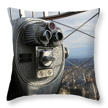Coin Operated Viewer Throw Pillow