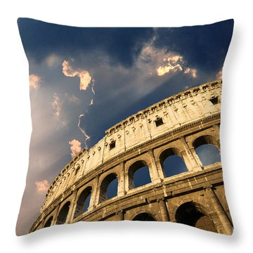 Coliseum. Rome. Lazio. Italy. Europe Throw Pillow by Bernard Jaubert
