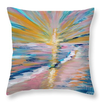Collection. Art For Health And Life. Painting 5 Throw Pillow