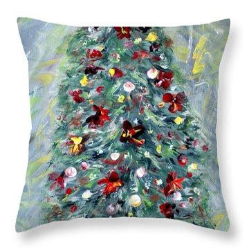 Christmas Tree. Green Throw Pillow