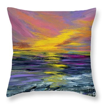 Collection Art For Health And Life. Painting 8 Throw Pillow by Oksana Semenchenko