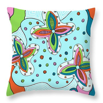 Color Collision Throw Pillow