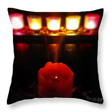 Color In Lights Throw Pillow by CML Brown