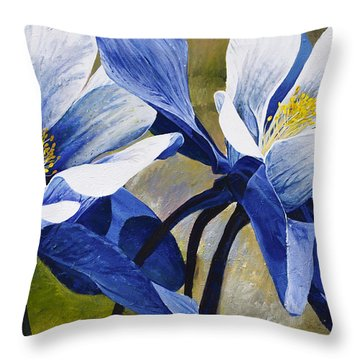 Colorado Columbines Throw Pillow