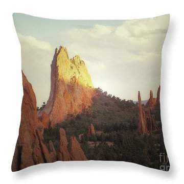 Throw Pillow featuring the photograph Colorado Garden Of The Gods Landscape by Andrea Hazel Ihlefeld