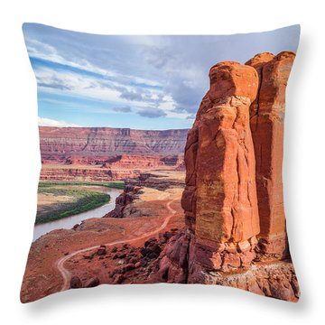 Colorado River And Chicken Corner Trail  Throw Pillow