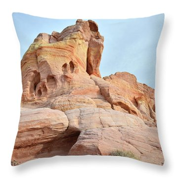 Throw Pillow featuring the photograph Colored Castle In Valley Of Fire by Ray Mathis