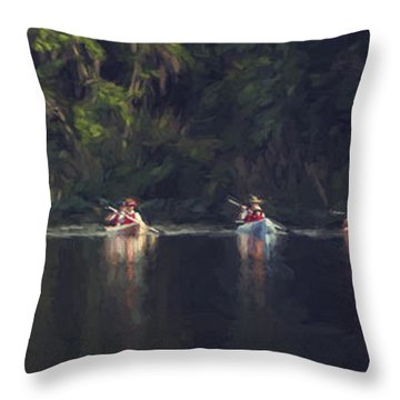 Colored Water Throw Pillow