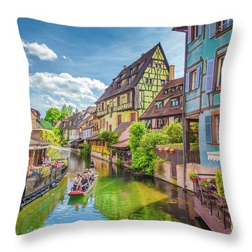Colorful Colmar Throw Pillow by JR Photography