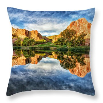 Throw Pillow featuring the photograph Colorful Colorado by OLena Art Brand
