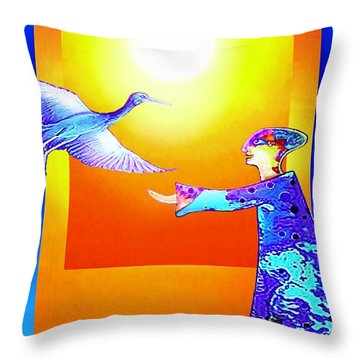 Colorful Friends Throw Pillow