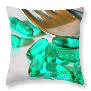Colourful Medication Throw Pillow