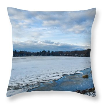 Columbia Lake Reflections 1 Throw Pillow
