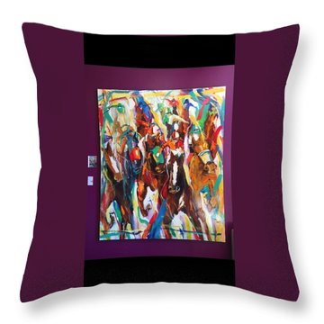 Coming Up Green Throw Pillow by Heather Roddy