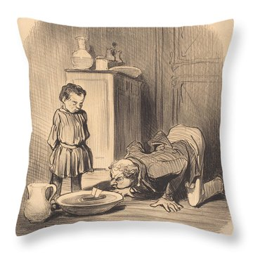 Comment On Donne... Le Goet De La Navigation Throw Pillow