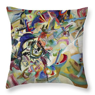 Composition Vii Throw Pillow by Wassily Kandinsky