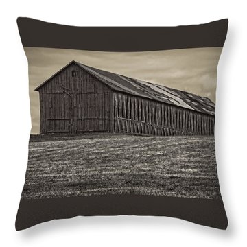 Connecticut Tobacco Barn Throw Pillow