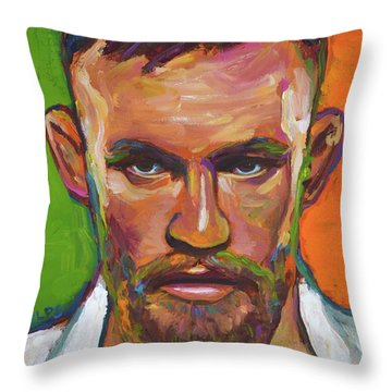 Conor Mcgregor Throw Pillow