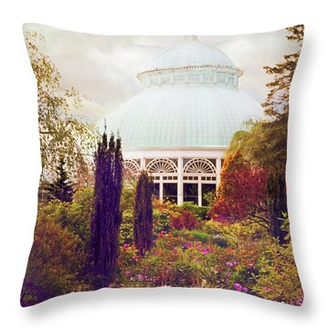 Conservatory Gardens Throw Pillow