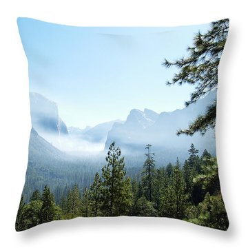 Controlled Burn Of Yosemite Throw Pillow