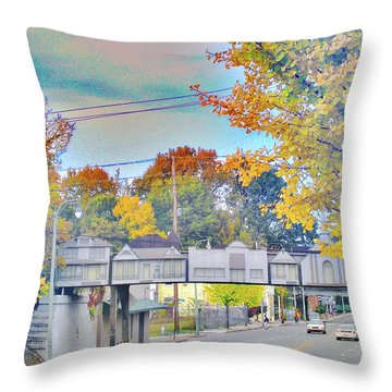 Cooper Young Trestle Throw Pillow by Lizi Beard-Ward