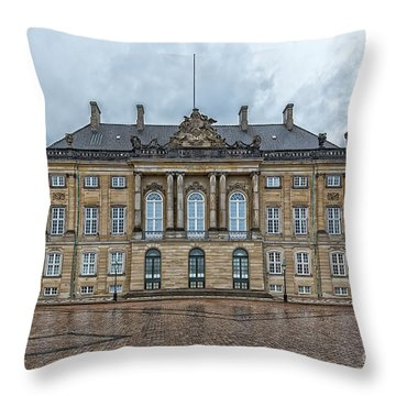 Throw Pillow featuring the photograph Copenhagen Amalienborg Palace by Antony McAulay