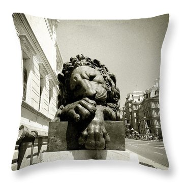 Corcoran Lion Throw Pillow