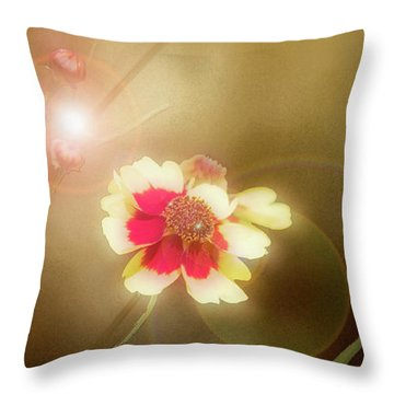 Coreopsis Flowers And Buds Throw Pillow