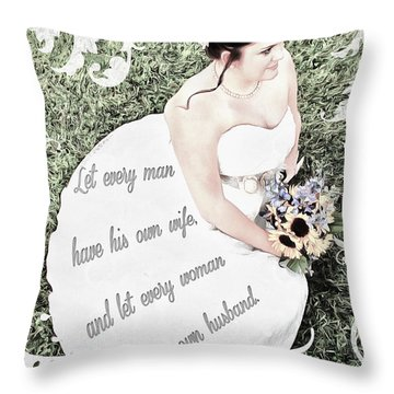 1 Corinthians 7 2 Throw Pillow by Michelle Greene Wheeler