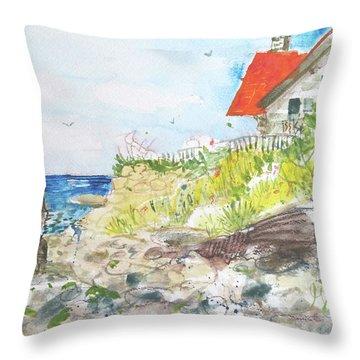 Cornfield Point Old Saybrook Throw Pillow