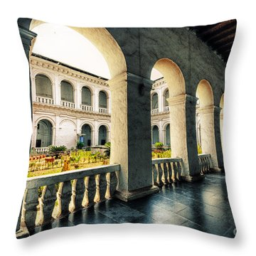 Corridor Throw Pillow by Charuhas Images