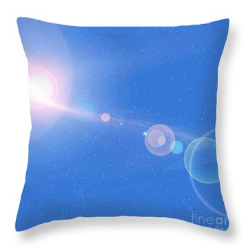 Cosmic String Throw Pillow by Corey Ford
