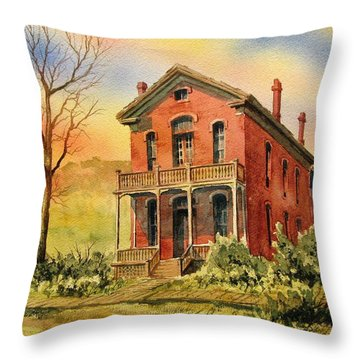 Courthouse Bannack Ghost Town Montana Throw Pillow by Kevin Heaney