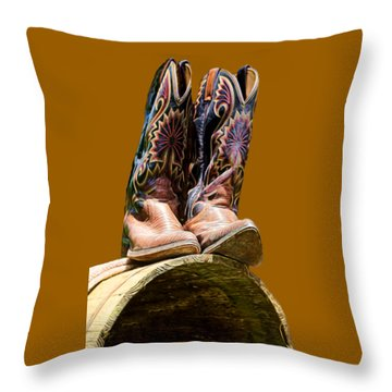Cowboy Boots  Throw Pillow
