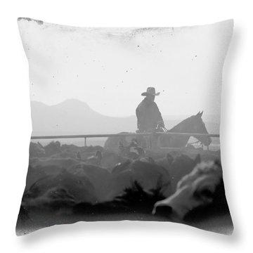 Cowboy Dawn Throw Pillow