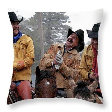 Cowboy Humor Throw Pillow