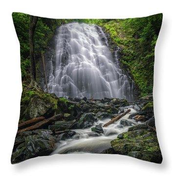 Crabtree Falls North Carolina Throw Pillow