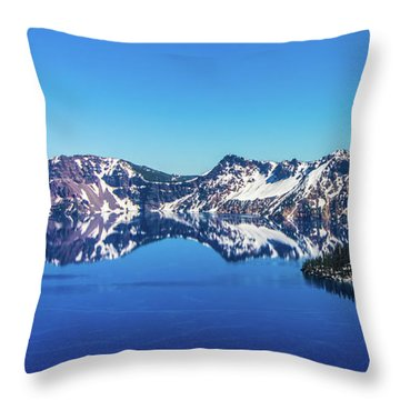 Throw Pillow featuring the photograph Crater Lake by Jonny D