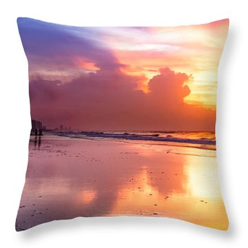 Crescent Beach September Morning Throw Pillow