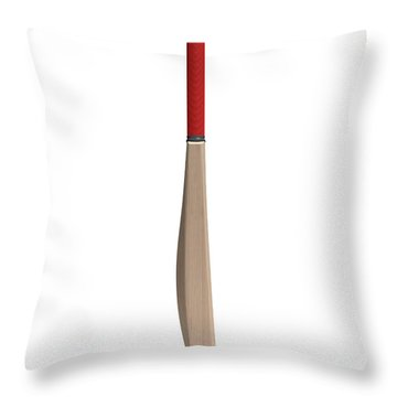 Cricket Bat Throw Pillow by Allan Swart