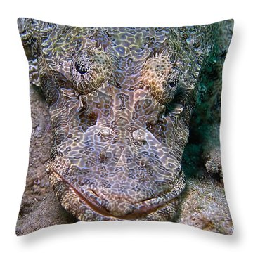 Crocodile Fish Throw Pillow