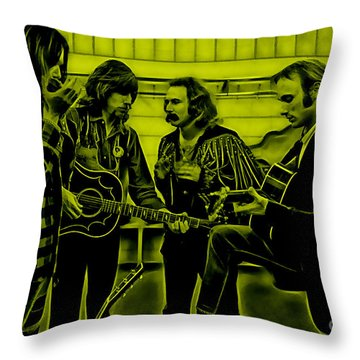 Crosby Stills Nash And Young Throw Pillow