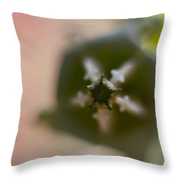 Crown Flower Throw Pillow
