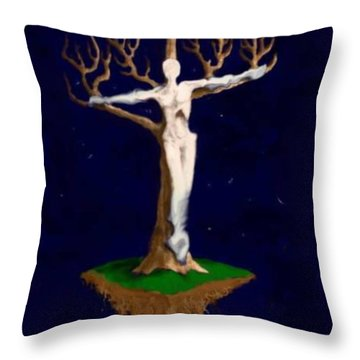 Crucifix Throw Pillow by Steve  Hester