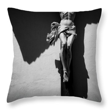 Crucifixion Throw Pillow by Dave Bowman
